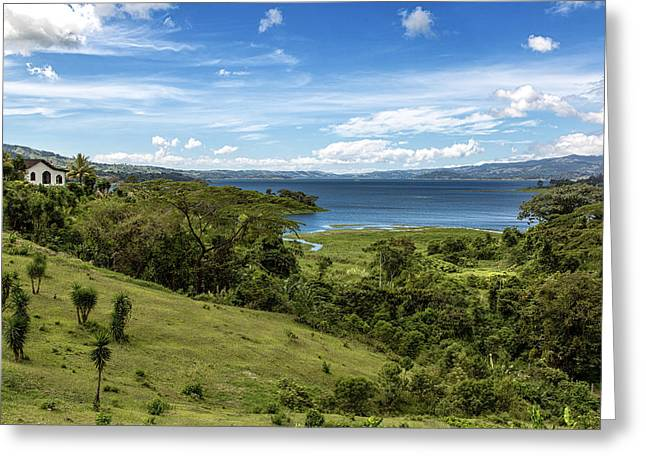 Water Photographs Greeting Cards - Lake Arenal View in Costa Rica Greeting Card by Andres Leon