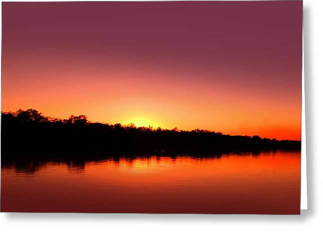 Argyle Digital Greeting Cards - Lake Argyle Sunset 180802082012 Greeting Card by Saroj Gunasekara