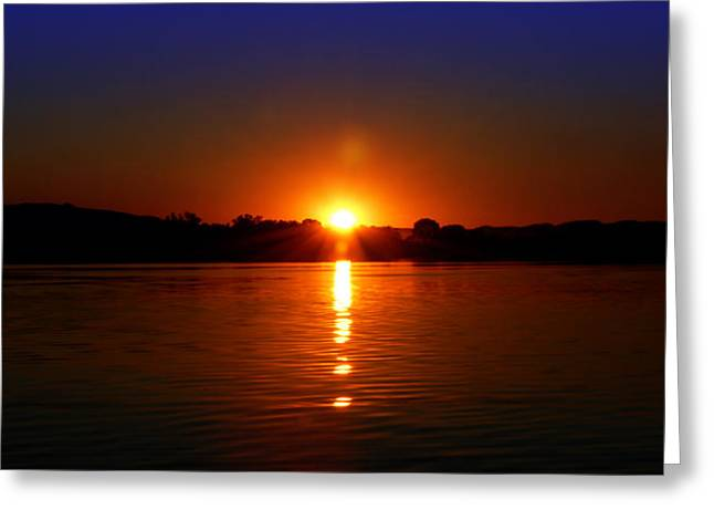 Argyle Digital Greeting Cards - Lake Argyle Sunset  Greeting Card by Saroj Gunasekara