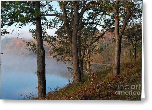 Deer Creek Greeting Cards - Lake at Deer Creek Greeting Card by Pamela Baker