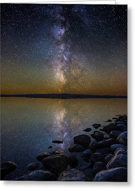 Starry Reflections Greeting Cards - Lake Benton Greeting Card by Aaron J Groen