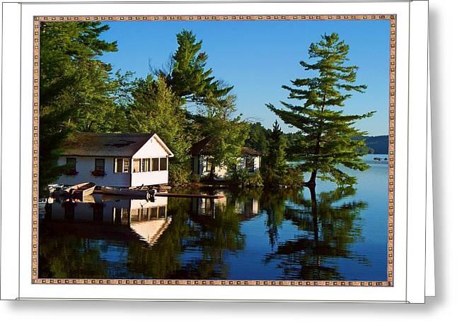 Olson House Greeting Cards - Lake Camps  Greeting Card by Joy Nichols