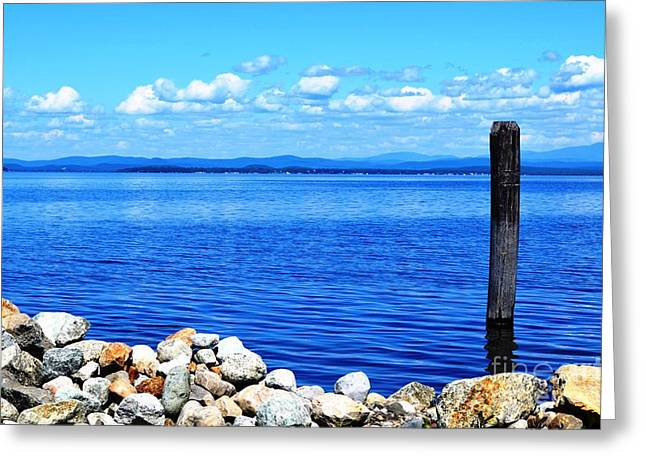 Port Kent Greeting Cards - Lake Champlain 1 Greeting Card by Sarah Holenstein