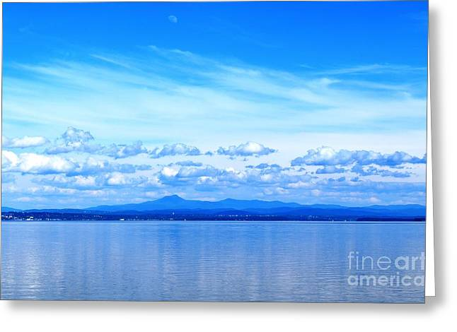 Port Kent Greeting Cards - Lake Champlain 11 Greeting Card by Sarah Holenstein
