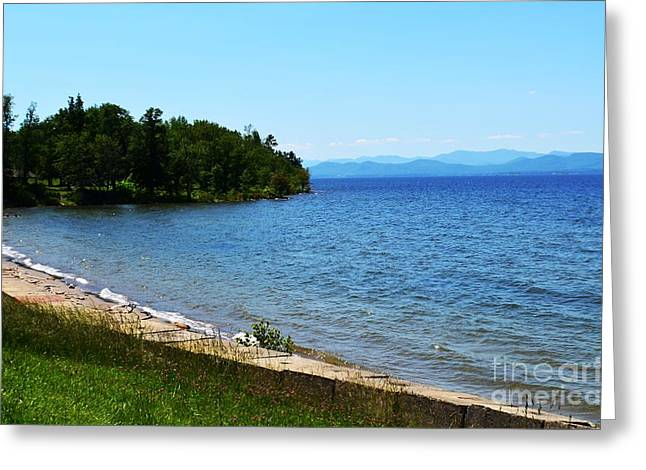 Esem8chart.com Greeting Cards - Lake Champlain 12 Greeting Card by Sarah Holenstein
