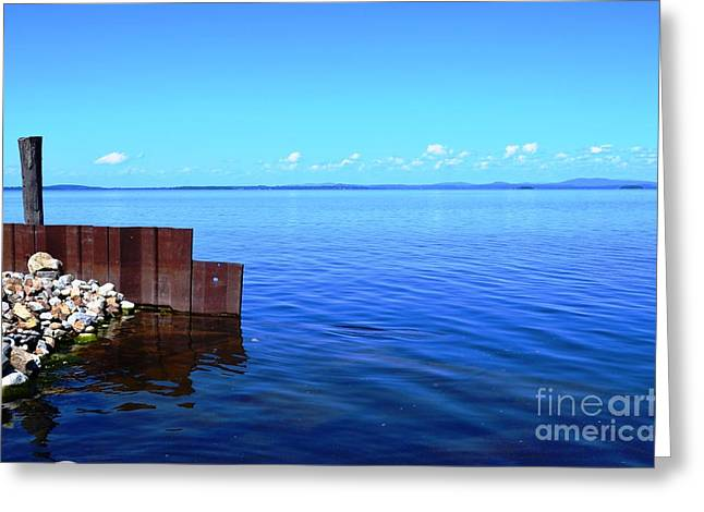 Port Kent Greeting Cards - Lake Champlain 5 Greeting Card by Sarah Holenstein