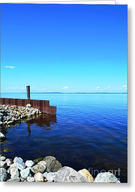 Port Kent Greeting Cards - Lake Champlain 6 Greeting Card by Sarah Holenstein
