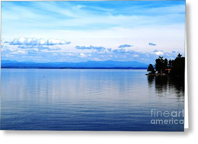 Port Kent Greeting Cards - Lake Champlain 8 Greeting Card by Sarah Holenstein