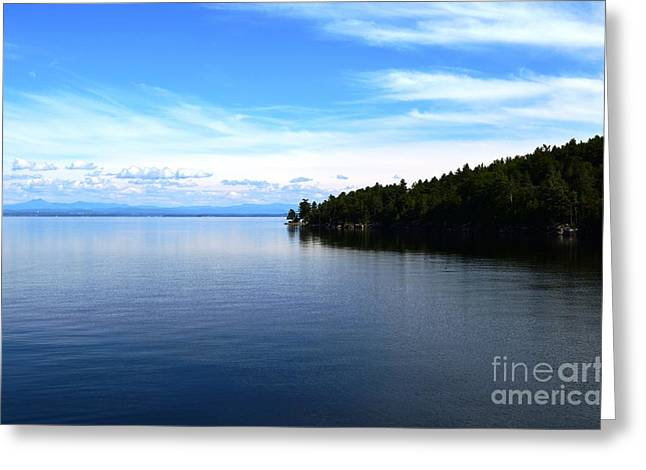 Port Kent Greeting Cards - Lake Champlain 9 Greeting Card by Sarah Holenstein