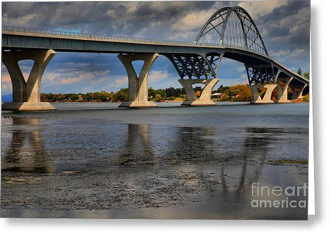 Lake Champlain Greeting Cards - Lake Champlain Tied Arch Bridge Greeting Card by Adam Jewell