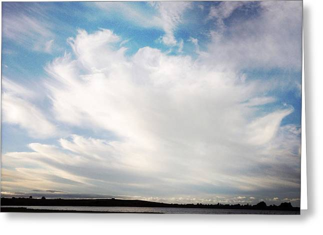 Summer Storm Greeting Cards - Lake clouds Greeting Card by Les Cunliffe