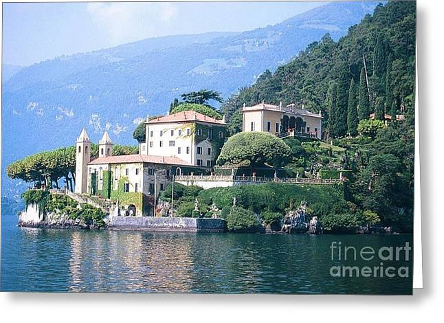 Lake Como Palace Greeting Card by Greta Corens
