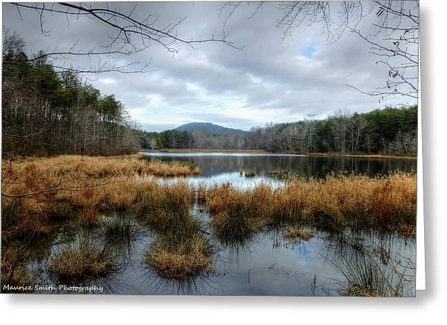 Lake Crowders Mountain Greeting Card by Maurice Smith