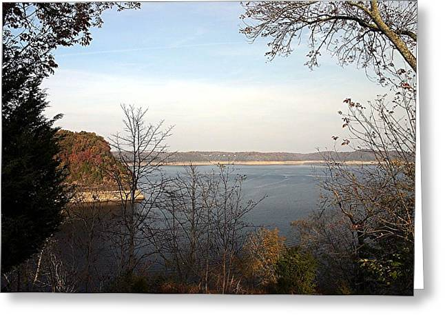 Lake Tapestries - Textiles Greeting Cards - Lake Cumberland -  Kentucky Greeting Card by Thia Stover