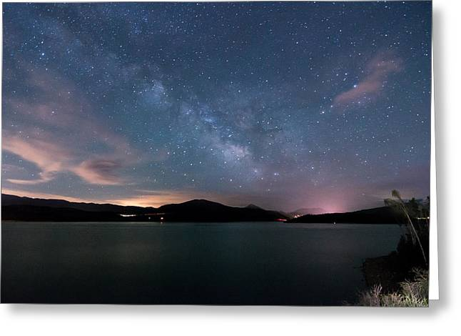 Colorado Mountains Greeting Cards - Lake Dillon Milky Way Greeting Card by Michael J Bauer
