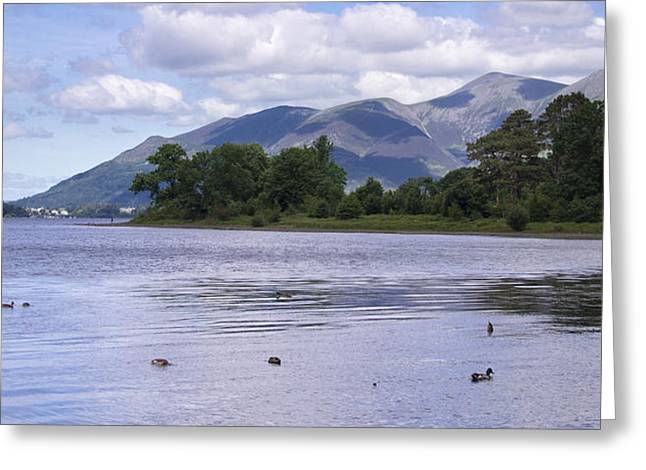Jetty View Park Greeting Cards - Lake District Cumbria - 3 Greeting Card by Chris Smith