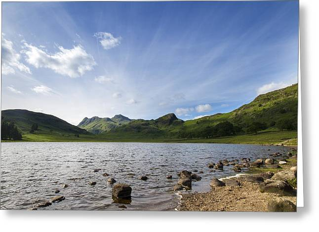Jetty View Park Greeting Cards - Lake District Cumbria  Greeting Card by Chris Smith