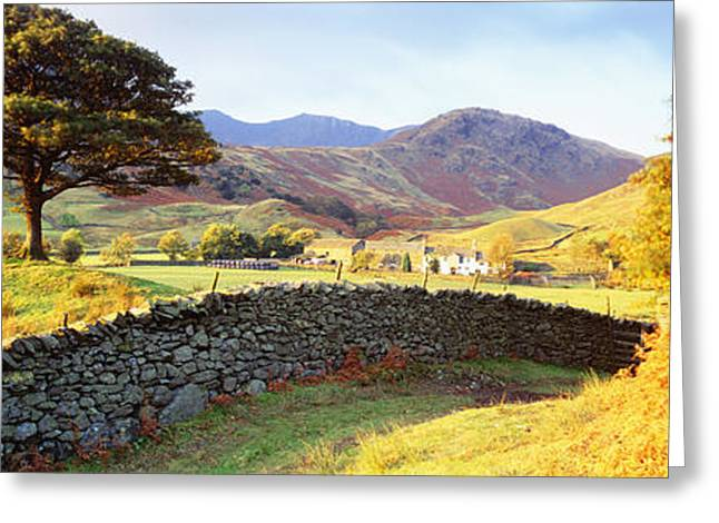 Corral Greeting Cards - Lake District, United Kingdom Greeting Card by Panoramic Images
