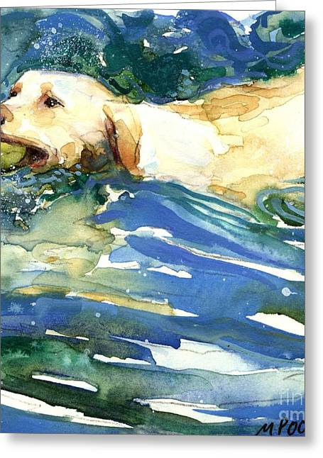 Yellow Dog Paintings Greeting Cards - Lake Effect Greeting Card by Molly Poole
