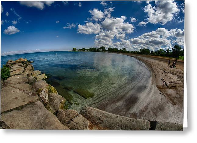 Lakescape Greeting Cards - Lake Erie. Edgewater park Greeting Card by Michael Demagall