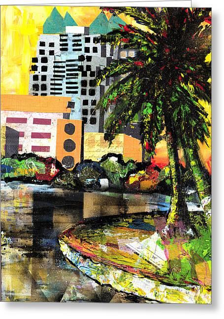 Everett Spruill Mixed Media Greeting Cards - Lake Eola - part 3 of 3 Greeting Card by Everett Spruill