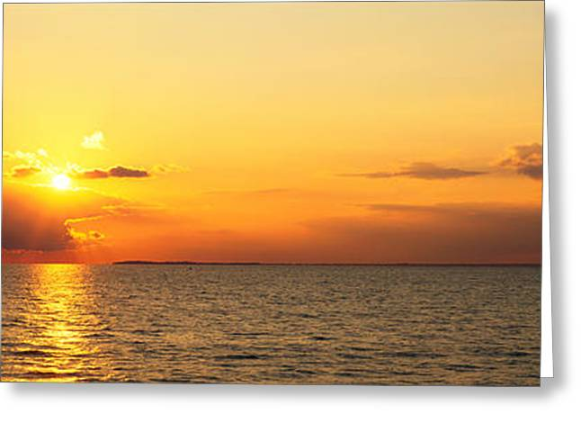 New York Vista Greeting Cards - Lake Erie Ny Usa Greeting Card by Panoramic Images