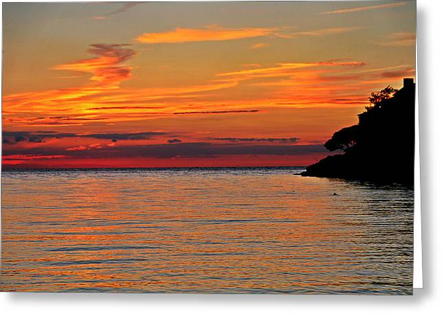 Lake Photographs Greeting Cards - Lake Erie Sunset Greeting Card by Dan Sproul