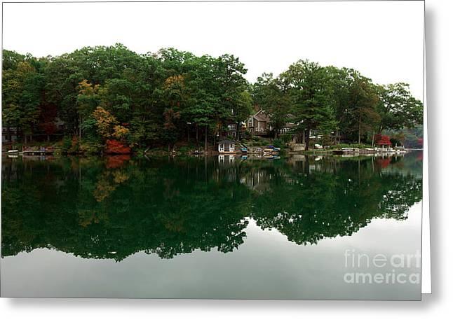 Lake Erskine Greeting Card by John Rizzuto
