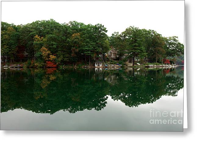 Red School House Greeting Cards - Lake Erskine Greeting Card by John Rizzuto
