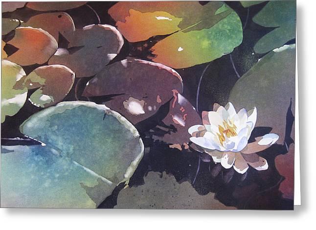 Kris Parins Greeting Cards - Lake Garden Greeting Card by Kris Parins