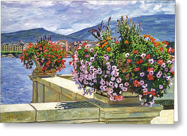 Featured Art Greeting Cards - Lake Geneva Beauty Greeting Card by David Lloyd Glover