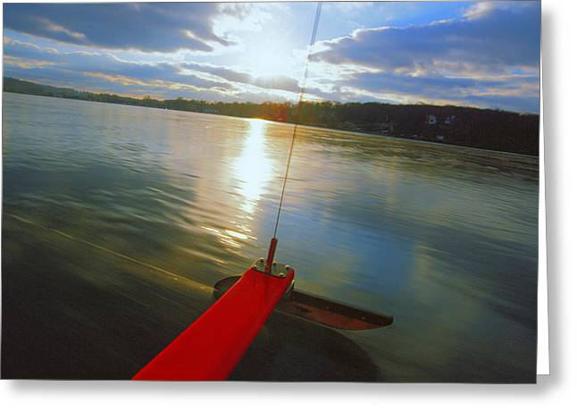 Sailboats Greeting Cards - Blade Runner - Lake Geneva Wisconsin Greeting Card by Bruce Thompson