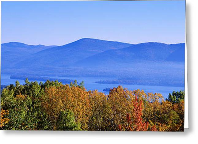 Mts Greeting Cards - Lake George, Adirondack Mountains, New Greeting Card by Panoramic Images