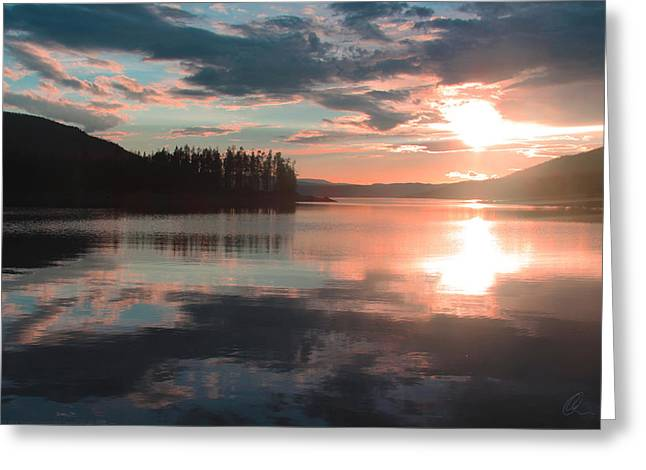 Recently Sold -  - Generators Greeting Cards - Lake Granby Sunset Greeting Card by Chris Thomas
