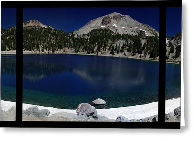 Tree Roots Greeting Cards - Lake Helen at Mt Lassen Triptych Greeting Card by Peter Piatt