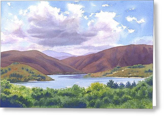 Lake Hodges San Diego Greeting Card by Mary Helmreich