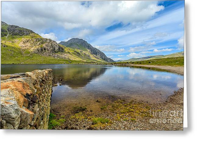 National Digital Art Greeting Cards - Lake Idwal Greeting Card by Adrian Evans