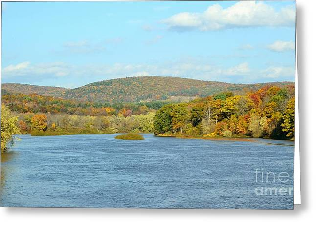 Blue Green Water Greeting Cards - Lake in Pennsylvania Greeting Card by Carolyn Freligh