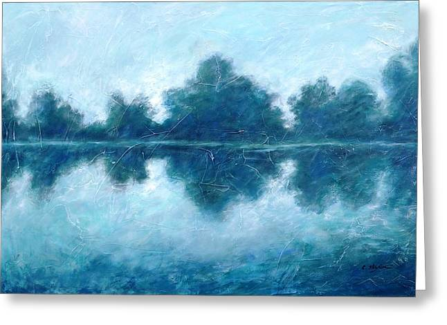 Dusk At The Lake Greeting Cards - Lake in the morning Greeting Card by Cristina Stefan