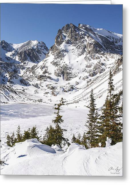 High Noon Greeting Cards - Lake Isabelle Vertical Greeting Card by Aaron Spong