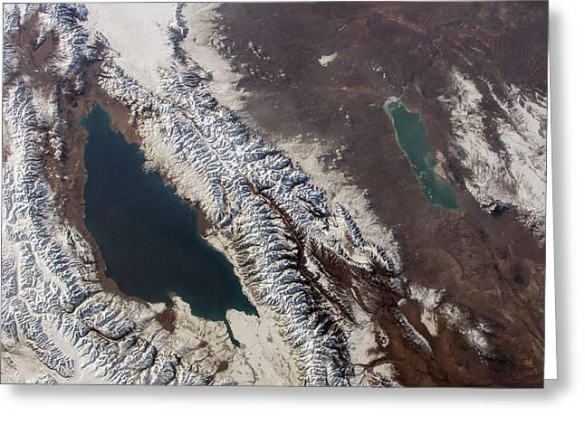 Lake Issyk Kul Greeting Card by Nasa