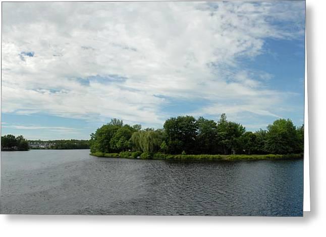 Landscape Posters Greeting Cards - Lake James 258 Greeting Card by Joyce StJames