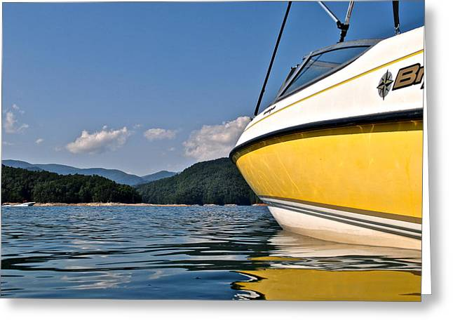Tropical Oceans Greeting Cards - Lake Jocassee Greeting Card by Frozen in Time Fine Art Photography
