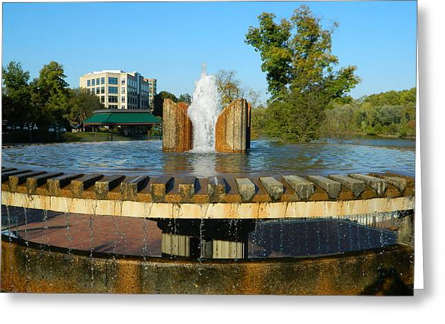Lake Kittamaqundi Fountain Greeting Card by Emmy Marie Vickers