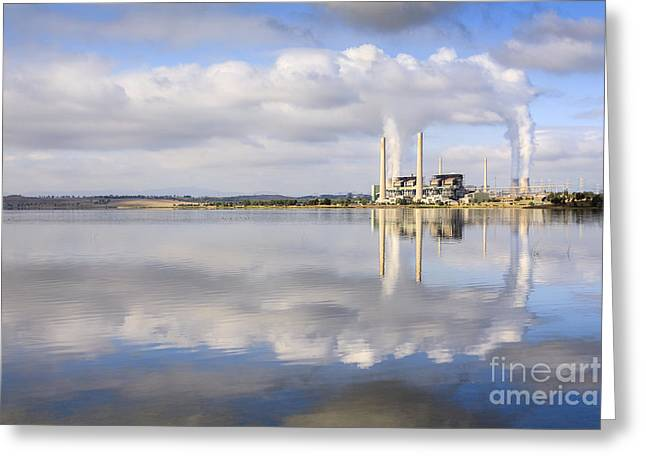 Emissions Greeting Cards - Lake Liddell Power Station NSW Australia Greeting Card by Colin and Linda McKie