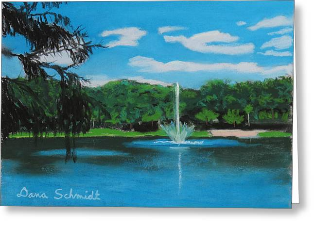 Water Lilly Pastels Greeting Cards - Lake Lilly in Maitland Greeting Card by Dana Schmidt