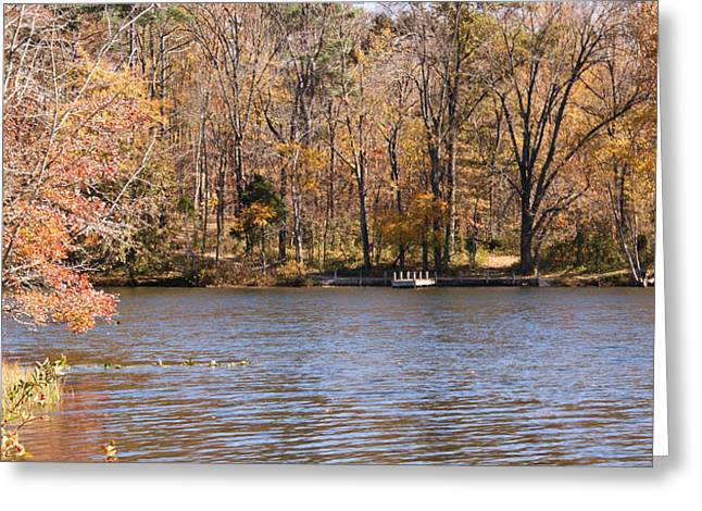 Indiana Autumn Greeting Cards - Lake Lincoln Greeting Card by Sandy Keeton