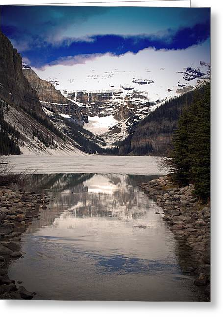 Skiing Posters Photographs Greeting Cards - Lake Louise Alberta Canada Greeting Card by Andy Evans