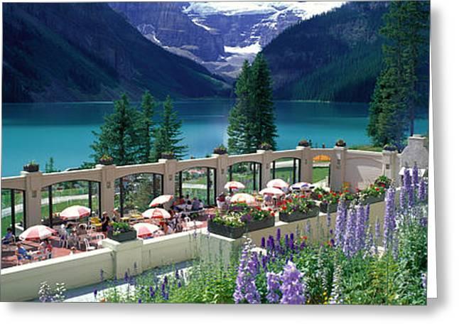 Lake Louise Greeting Cards - Lake Louise, Alberta, Canada Greeting Card by Panoramic Images