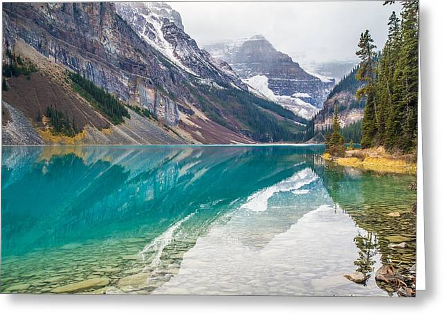 Lake Louise Photography Greeting Cards - Lake Louise in Banff National Park Greeting Card by Pierre Leclerc Photography